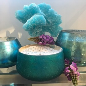 The Candle in Turquoise & Gold Collection