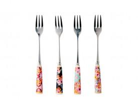 11547 Bloems cake fork s/4 gb