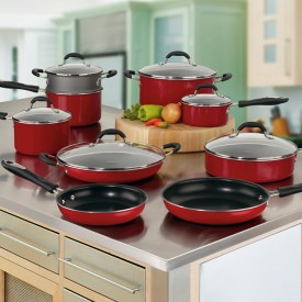 10291 Aluminium 11pc set red