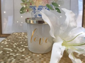 11265 THE LOVE COLLECTION- LOVE CANDLE