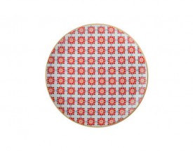 11694 Isfara plate samarq red 20cm