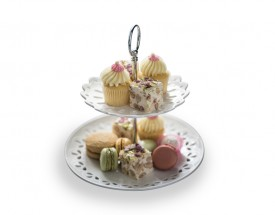 11597 Lille 2 tier cake stand gb