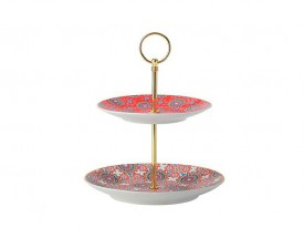 11677 Isfara 2 tier cake stand red