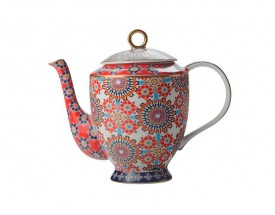 11709 Isfara teapot bukhara red 1l