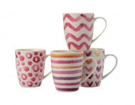 11486 Mug S/4 320ml pink Gb