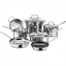 10294 S/S 11pc cookware set pro seri