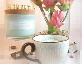11239 Tea Cup -  White Tea Candle