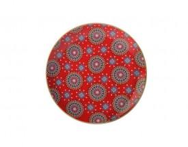 11689 Isfara plate pashar red 20cm